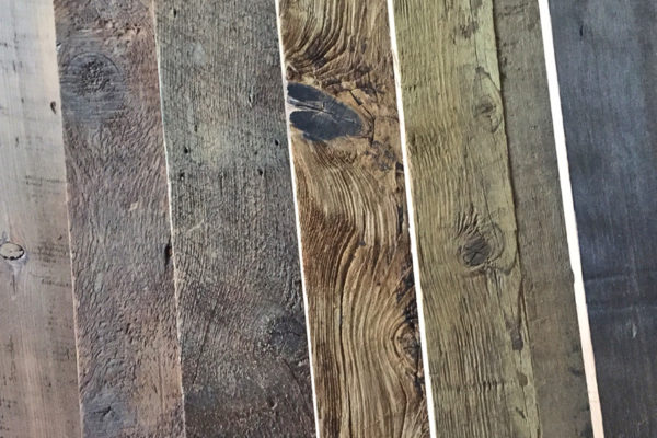 reclaimed wood flooring and paneling from barns